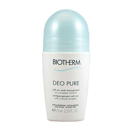 Biotherm Deodorant Pure Roll-On unisex, Deodorant Roller 75 ml, 1er Pack (1 x 0.109 kg)