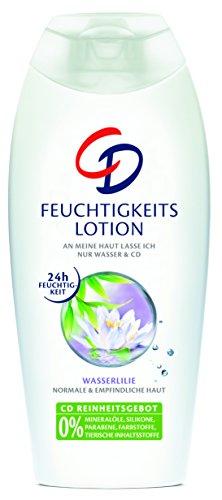 CD Feuchtigkeitslotion Wasserlilie – Bodylotion geeignet für empfindliche Haut im Vorratspack – Vegan – 3er Pack (3 x 400 ml)
