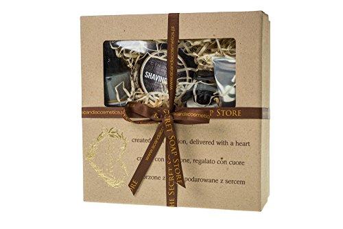 """Für Herren: 5-tlg Pflegeset, Geschenkset """"For Him"""": Rasierseife, Balsam nach der Rasur 2 in 1, Duschgel & Shampoo 2 in 1, Handcreme, Peel- und Nähr- Naturseife! Wunderbares Geschenk für jeden Mann!"""