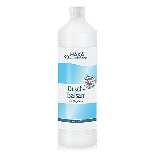 HAKA Duschbalsam I 1 L Nachfüllflasche I Duschgel für trockene Haut I Pflegecreme für empfindliche Haut I Reinigung und Pflege mit angenehmen Duft I Duschlotion