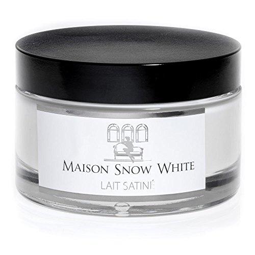 Maison Snow White Lait Satiné - Vegane Bodylotion für Damen und Herren - 100% natürliche Körperlotion gegen trockene Haut - Made in Germany - 150ml Naturkosmetik Haut Lotion