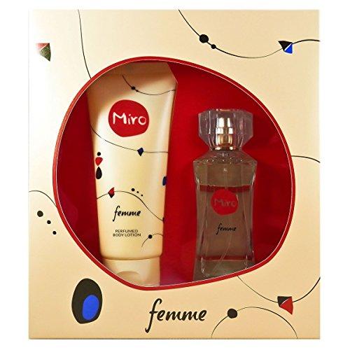 Miro Femme woman Set (Eau De Parfum 50ml + Bodylotion 100ml) 1er Pack(1 x 1 Stück)