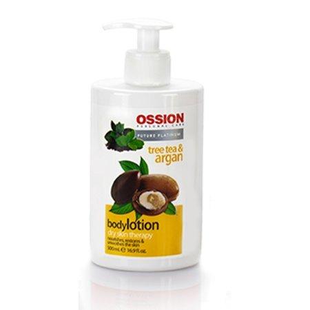 Morfose Ossion Teebaumöl & Arganöl Bodylotion für trockene Haut 500ml Körper Pflege Lotion Creme für Sie & Ihn Intensive Feuchtigkeit