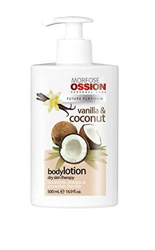 Morfose Ossion Vanille & Kokosnuss Bodylotion für trockene Haut 500ml Körper Pflege Lotion Creme für Sie & Ihn Intensive Feuchtigkeit