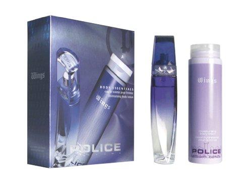 Police Fragrances Wings Femme Body Set Eau de Toilette Vaporisateur 50 ml und Moisturising Body Lotion 200 ml