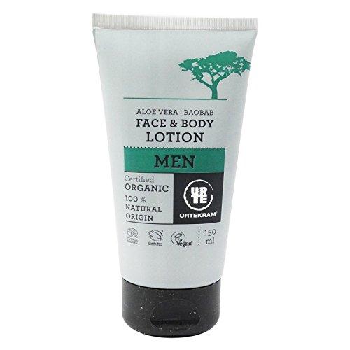 URTEKRAM - Herren Gesichts- und Körperlotion mit Aloe und Baobab - Beruhigende und Regenerations - 150 ml