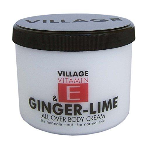 Village Cosmetics Vitamin E Bodycream Ginger-Lime, 1er Pack (1 x 500 ml)