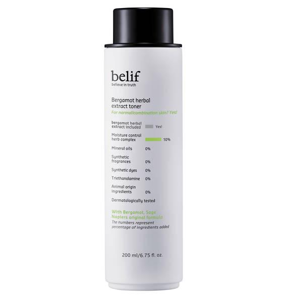 belif Bergamot Herbal Extract Toner - Gesichtswasser mit Bergamotte und Salbei 200 ml