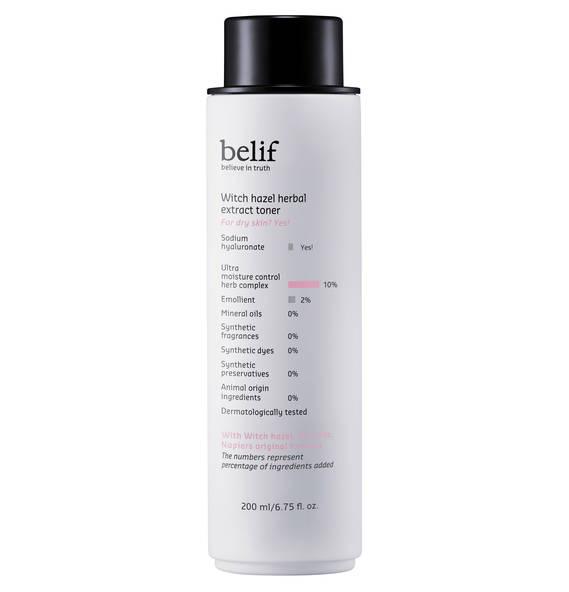 belif Witch Hazel Herbal Extract Toner - Gesichtswasser mit Hamamelis-Extrakt 200 ml