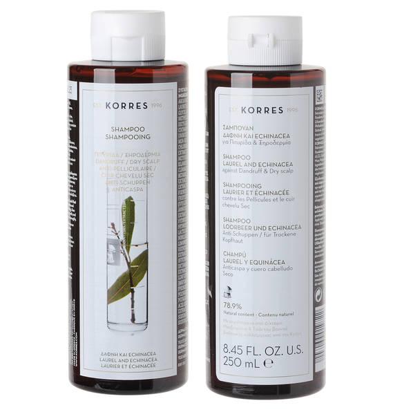 Korres Laurel & Echinacea Anti-Schuppen Shampoo für trockene Kopfhaut 250 ml