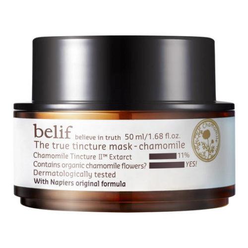 belif The True Tincture Mask Chamomile - Feuchtigkeitsspendende Maske mit Kamillenblüte 50 ml