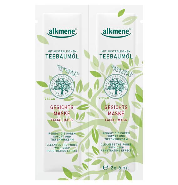 alkmene alkmene Teebaumöl Gesichtsmaske 2 x 6 ml
