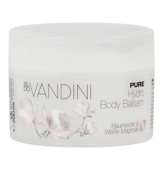 Aldo Vandini Pure Hydro Body Balsam Baumwolle & Weiße Magnolie 200 ml