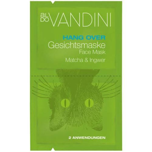 Aldo Vandini HANG OVER Gesichtsmaske Matcha & Ingwer