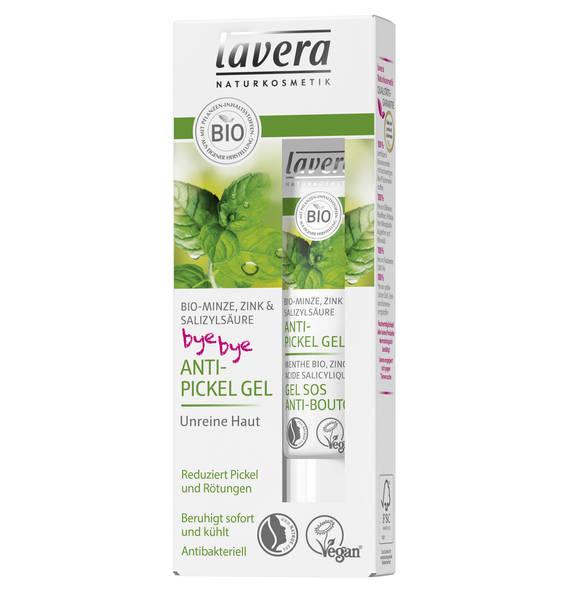 Lavera Bio-Minze, Zink & Salizylsäure bye bye Anti-Pickel Gel 15 ml