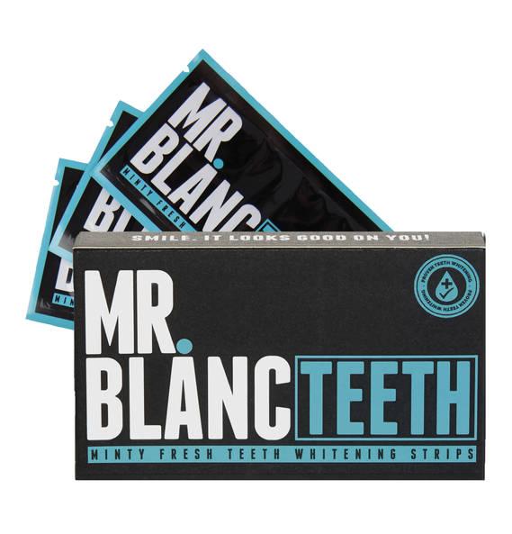 MR. BLANC TEETH Minty Fresh Teeth Whitening Stripes - Zahnbleaching Stripes