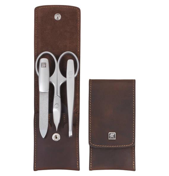 Zwilling Manicure Zwilling Taschenetui 3-teilig braun