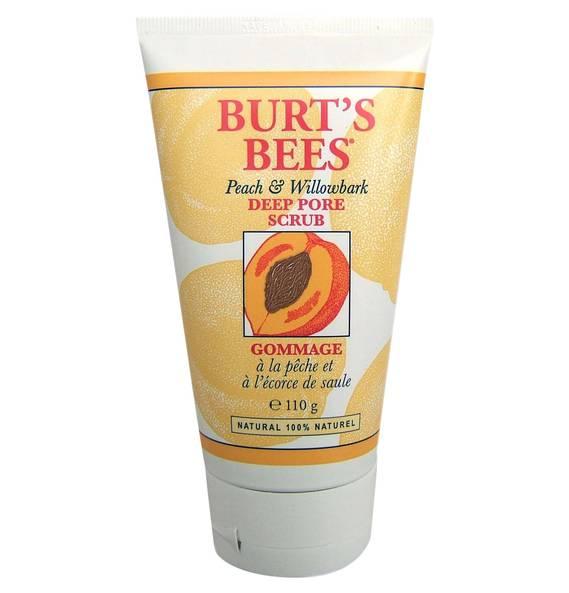Burts Bee Peeling für tiefe Porenreinigung mit Pfirsich & Weidenrinde, 110g