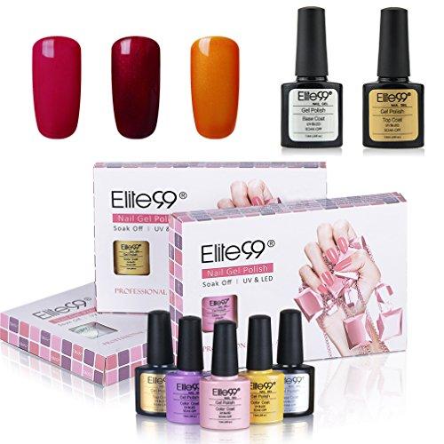 Elite99 Gel-Nagellack, Nagelgel, Soak-Off-Gel, Shellac, UV-LED-Nagelkit, Farbe C061, 5 Stück