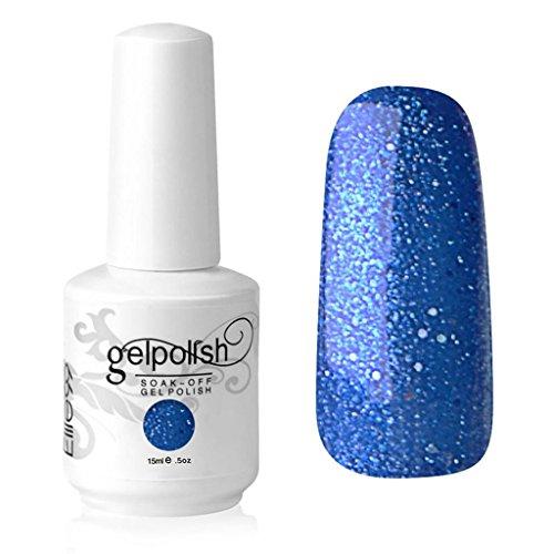 elite99Gelpolish Soak off UV-LED-15ml Stylisch Farbe glänzendem Lack Maniküre Starter Gel Nagellack Violett Glitter